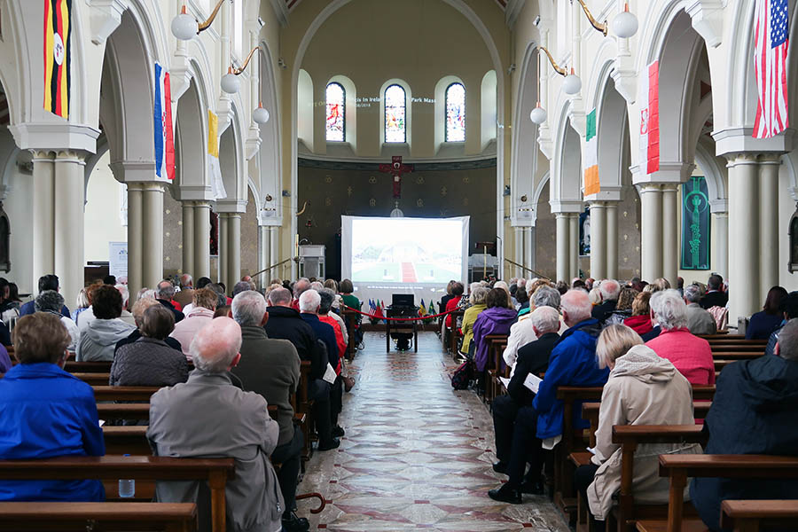 The Papal Mass from the Phoenix park live on the big screen in St Canices Church