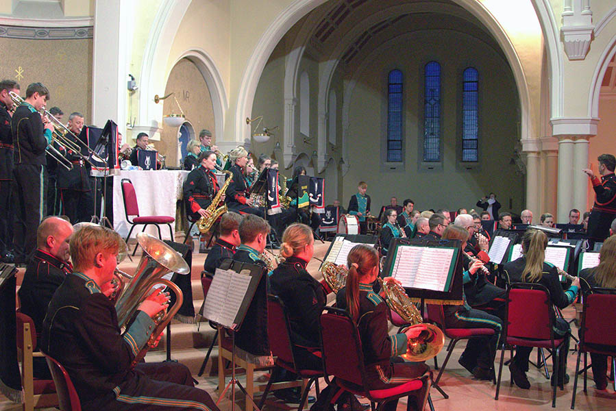 The Army Number 1 Band along with the Finglas Concert Band at a recital in St Canices Church