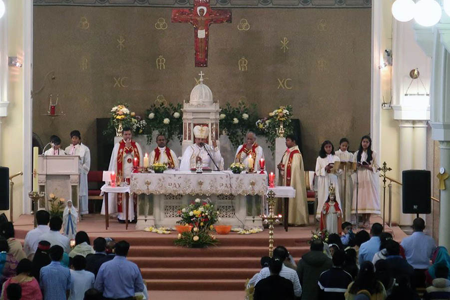 Syro Malabar Community celebrating Mass at St. Canices Church