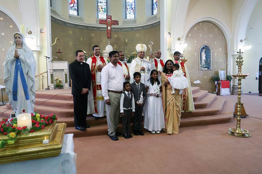 Syro Malabar Community celebrating feast day and first holy communion of children