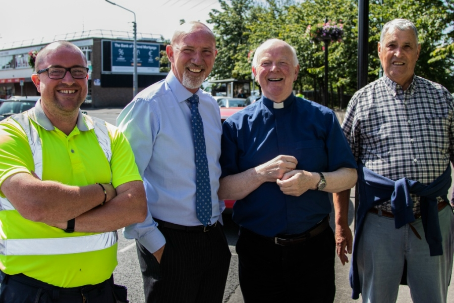 Fr. Michael Shiels and guests at the official opening of Biodiersity Garden